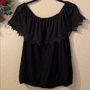 Michael Kors size large over shoulder blouse